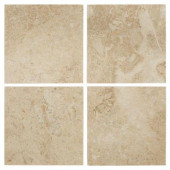Cappuccino 6 in. x 6 in. Marble Floor/Wall Tile (1 pk /4 pcs-1 sq. ft.)