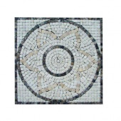 12 In. x 12 In. Emperador Light Medallion Marble Floor & Wall Tile-DISCONTINUED