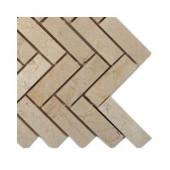 Crema Marfil Herringbone Marble Tile Sample