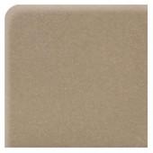 Modern Dimensions Matte Elemental Tan 4-1/4 in. x 4-1/4 in. Ceramic Bullnose Corner Wall Tile