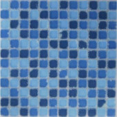 Oceanz Southern Tumbled Matte Glass 12 in. x 12 in.Mesh Mounted Floor & Wall Tile (5 sq. ft.)