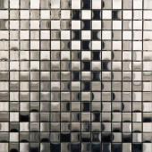 Acero 12 in. x 12 in. Stainless-Steel Trim Mosaic Tile