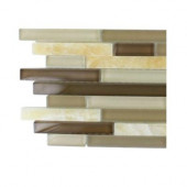 Temple Taffee Marble and Glass Tile Sample