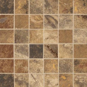 Jade Chestnut 13 in. x 13 in. x 8-1/2 mm Glazed Porcelain Floor and Wall Mosaic Tile
