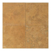 Travertine Sienna Gold 18 in. x 18 in. Natural Stone Floor and Wall Tile (9 sq. ft. / case)-DISCONTINUED