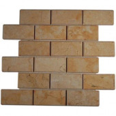 Jerusalem Gold Beveled 12 in. x 12 in. x 8 mm Natural Stone Floor and Wall Tile