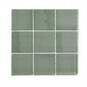 Contempo Seafoam Polished Glass Tile Sample