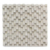 Cubist Dufy 12 in. x 12 in. x 22.2 mm Marble Mesh-Mounted Mosaic Wall Tile (5 sq. ft./Case)
