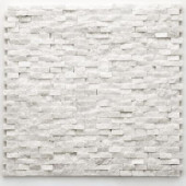 Modern Beaux 12 in. x 12 in. x 9.5mm Quartzite Natural Stone Mesh-Mounted Mosaic Wall Tile (10 sq. ft./Case)