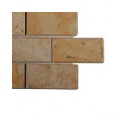 Jerusalem Gold Beveled Natural Stone Floor and Wall Tile Sample