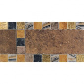 Terra Antica Rosso 6 in. x 12 in. Porcelain Decorative Accent Floor and Wall Tile