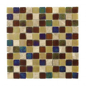 Smokey Suede Glass 12 in. x 12 in. Wall Tile-DISCONTINUED