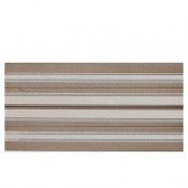 Identity Taupe/Tan Fabric 12 in. x 24 in. Porcelain Decorative Accent Floor and Wall Tile-DISCONTINUED