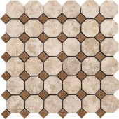 Campione Armstrong 13 in. x 13 in. x 8-1/2 mm Porcelain Octagon Mesh-Mounted Mosaic Tile
