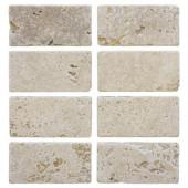 Light Travertine 3 in. x 6 in. Travertine Floor/Wall Tile (1pk / 8- pcs-1 sq. ft.)