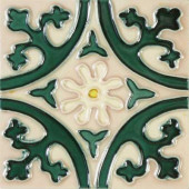 Hand Painted Ceramic Jardin Deco 6 in. x 6 in. x 6.35mm Ceramic Wall Tile (2.5 sq. ft./case)