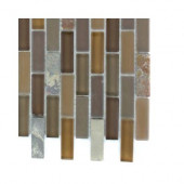 Tectonic Brick Multicolor Slate and Earth Blend Glass Floor and Wall Tile - 6 in. x 6 in. Tile Sample