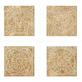 Montagna Cortina 6 in. x 6 in. Porcelain Embossed Deco (Receive 1 of 4 Random Decos - Sold as Singles)
