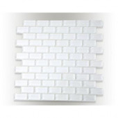 Contempo Bright White Polished 12 in. x 12 in. x 8 mm Glass Mosaic Floor and Wall Tile