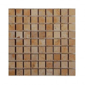 Jer Gold Squares Natural Stone Floor and Wall Tile - 6 in. x 6 in. Tile Sample-DISCONTINUED