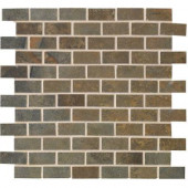 Jade 13 in. x 13 in. x 8-1/2 mm Sage Porcelain Mesh-Mounted Mosaic Floor and Wall Tile
