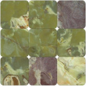 Green 4 in. x 4 in. Tumbled Onyx Floor and Wall Tile (1 sq. ft. / case)