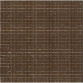 12.8 in. x 12.8 in. Venice Cameo Brown Glossy Glass Tile-DISCONTINUED