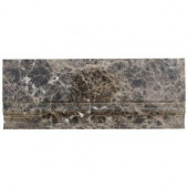 Dark Emperidor Base Molding 5 in. x 12 in. Marble Floor and Wall Tile