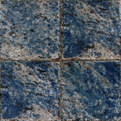Galaxy Blue 6 in. x 6 in. Glazed Porcelain Pool Tile