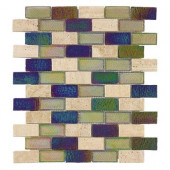 Mojave Gold Brick Glass 12 in. x 12 in. Wall Tile-DISCONTINUED