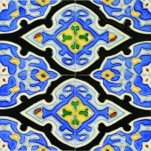 Hand Painted Ceramic Vereda Deco 6 in. x 6 in. x 6.35mm Ceramic Wall Tile (2.5 sq. ft./case)