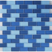 Oceanz Indian Mosaic Glass Mesh Mounted Tile - 3 in. x 3 in. Tile Sample