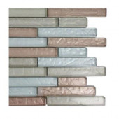 Metallic Cleopatra Harmony Glass Tile - 6 in. x 6 in. Tile Sample-DISCONTINUED