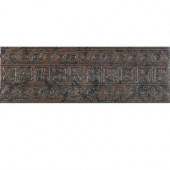 Craterlake Lava 6 in. x 18 in. Glazed Porcelain Border Floor & Wall Tile-DISCONTINUED