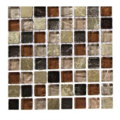 Outback Brown Blend 1/2 in. x 1/2 in. Marble and Glass Tile Squares - 6 in. x 6 in. Floor and Wall Tile Sample