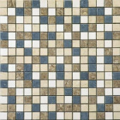Orion 16 in. x 16 in. Multi-Color Porcelain Mesh-Mounted Mosaic Tile-DISCONTINUED