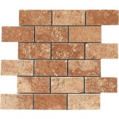 Montagna Soratta 12 in. x 12 in. Porcelain Brick-Joint Mosaic Floor and Wall Tile
