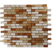 London Bridge 12 in. x 12 in.x 8 mm Marble and Glass Mosaic Floor and Wall Tile