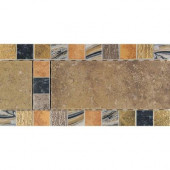 Terra Antica Oro 6 in. x 12 in. Porcelain Decorative Accent Floor and Wall Tile