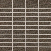 Identity Oxford Brown Fabric 12 in. x 12 in. x 9-1/2 mm Porcelain Sheet-Mounted Mosaic Tile-DISCONTINUED