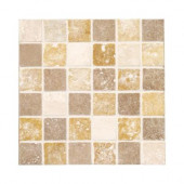 Travertine Medley 12 in. x 12 in. x 8 mm Mosaic Wall Tile