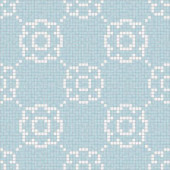 Flourish Breeze Motif 24 in. x 24 in. Glass Wall and Light Residential Floor Mosaic Tile