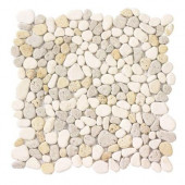 Creama River Rock Mosaic 12 in. x 12 in. x 8 mm Marble Mosaic Wall Tile