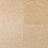 Natural Stone Collection Champagne Gold-Honed 12 in. x 12 in. Marble Floor and Wall Tile(10 sq. ft. / case)
