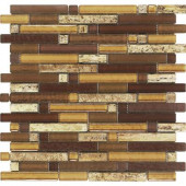 Varietals Aligote-1650 Stone And Glass Blend Mesh Mounted Floor and Wall Tile - 3 in. x 3 in. Tile Sample