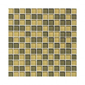 Glass Reflections Wheat 12 in. x 12 in. x 8mm Glass Mesh-Mounted Mosaic Wall Tile (10 sq. ft. / case)-DISCONTINUED