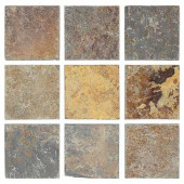 Tumbled Slate 4 in. x 4 in. x 8 mm Floor and Wall Tile (9 pieces/1 sq.ft./1 pack)