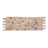 Standing Pebbles Rosettes 4 in. x 12 in. x 15.875mm - 19.05mm Pebble Mesh-Mounted Mosaic Wall Tile (6 sq. ft./case)