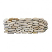 Standing Pebbles Grotto 4 in. x 12 in. x 15.875mm - 19.05mm River Rock Mesh-Mounted Mosaic Wall Tile (5 sq. ft./case)