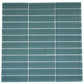 Contempo Turquoise Polished 12 in. x 12 in. x 8 mm Glass Floor and Wall Tile